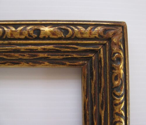 ORIG MAXFIELD PARRISH ERA ART DECO PICTURE FRAME CARVED WOOD ORNATE 15x19 Art