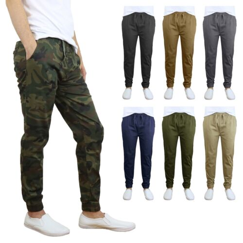 Men's Twill Active Jogger Pants with Tapered Ankles- Extra Stretch For Comfort