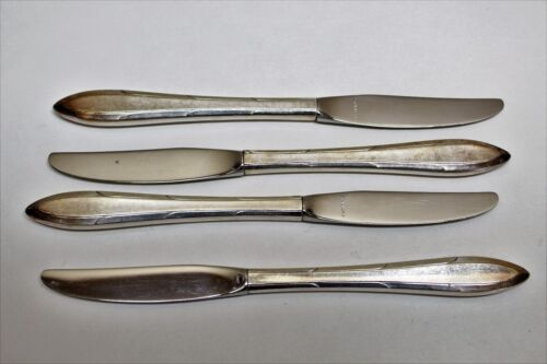 4 Nobility Plate Reverie Pattern Silverplate Flatware Grille Knives