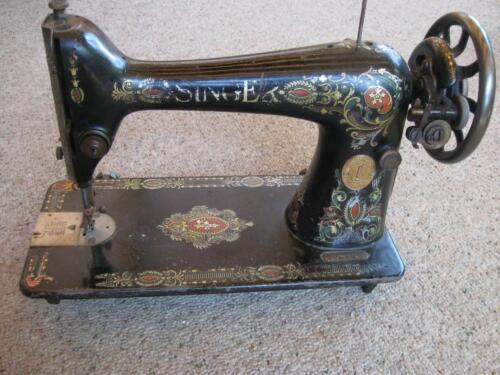 ANTIQUE SINGER TREADLE SEWING MACHINE HEAD MARCH 1913 WORKING COND