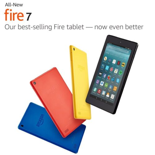 """All-New Amazon Fire 7 Tablet with Alexa 7"""" Display 8 16 GB 6th Generation 2017"""