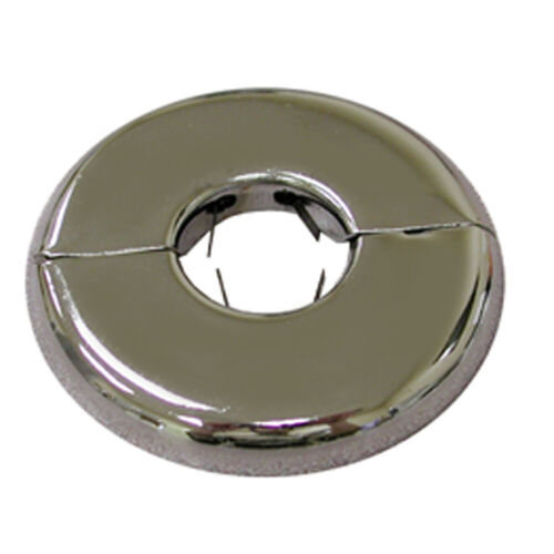 """Pack 12, Chrome Plated 3/8"""" IPS Floor and Ceiling Plate Heavy Gauge with Springs"""