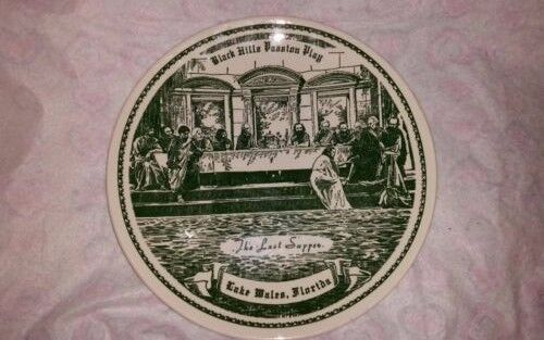 VINTAGE RARE BLACK HILLS PASSION PLAY THE LAST SUPPER LAKE MALES FLORIDA PLATE