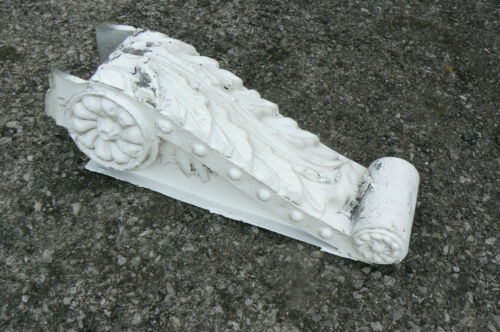 """Lot 4 Antique 110 Y.O. Galv Tin Corbels Architectural Salvage 16"""" Soffit Trim"""