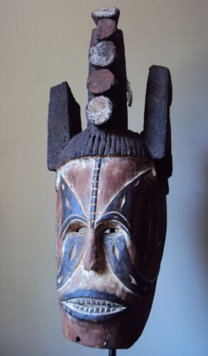 SALE - WAS $285 LG BEAUTIFUL IGBO IBO HEADDRESS Mask African Carving!!