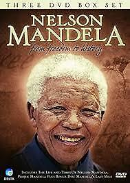 NELSON MANDELA: FROM FREEDOM TO HISTORY  (DVD, 3-DISC BOX SET) R-ALL, LIKE NEW