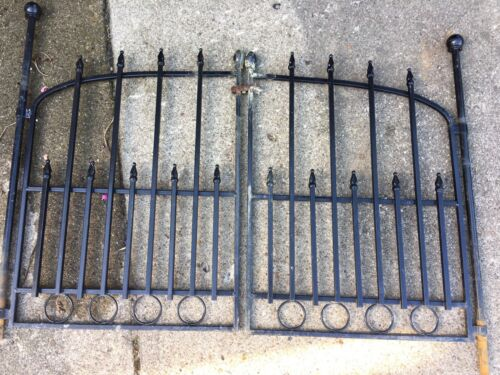 LOT Modern/Vintage Steel Garden Fence Gate Grate Antique Architecture Salvage