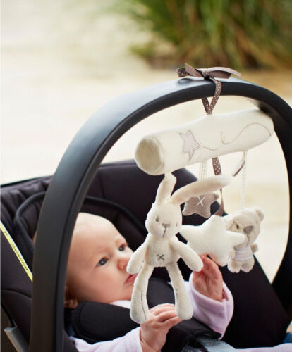 Baby stroller Crib Bed Rattle Music Hanging Bell Developmental Plush Toy Gift CY