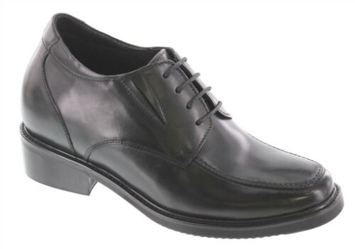 CALTO - T5105 - 3.6 Inches Elevator Height Increase Black Classic Dress Shoe