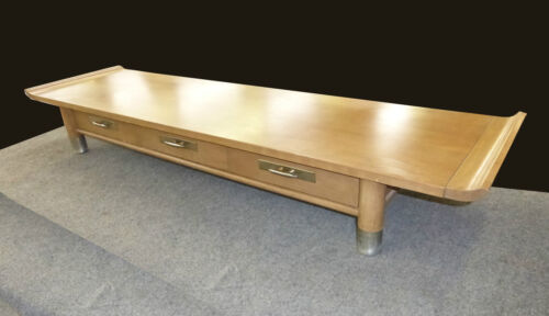Vintage Mid Century Modern Asian Style ALTER TABLE Coffee Table Light Wood Tone
