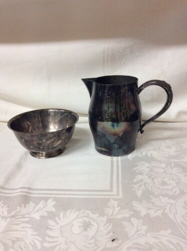 Silverplate Paul Revere Reproduction W.M.A Rogers Bowl & Pitcher (CS4)