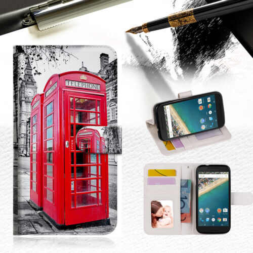 British phone Booth Wallet Case Cover For Alcatel Pop Star -- A025