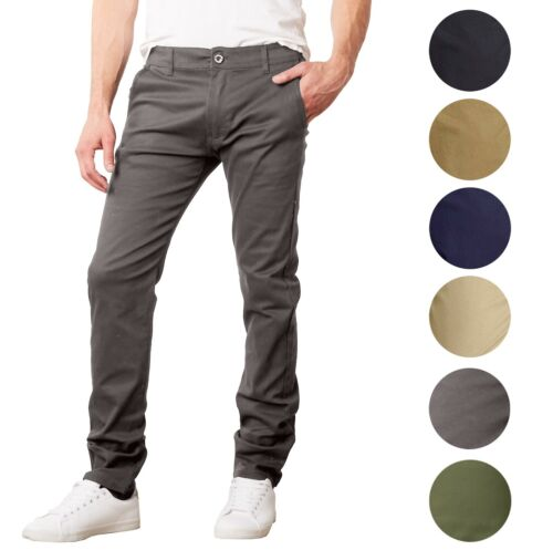 Men's Slim Fit Cotton Chinos Pants Stretch