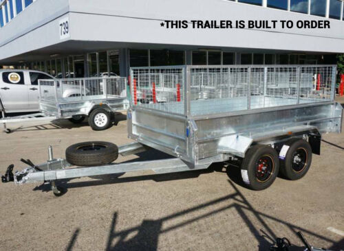 NEW 10x6 STONEGATE Caged Box Trailer Galvanised Tandem Dual Axle Trailer Qld