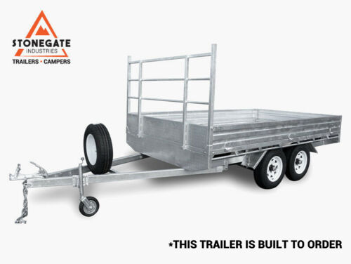 12x7 Flat Top / Flat Bed Tandem Dual Axle Trailer For Sale Brisbane Qld