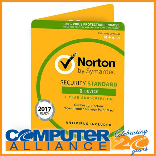 Symantec Norton Security Standard OEM Subscription for 1 PC PN 5397039339221
