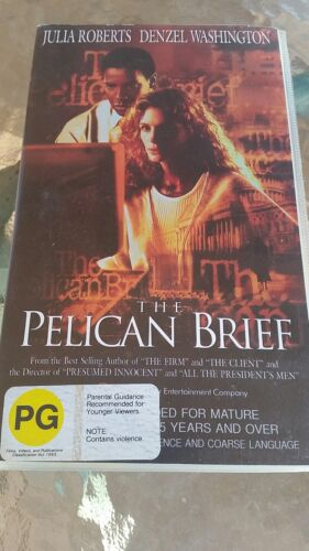 THE PELICAN BRIEF   - Denzel Washington -  VHS VIDEO TAPE