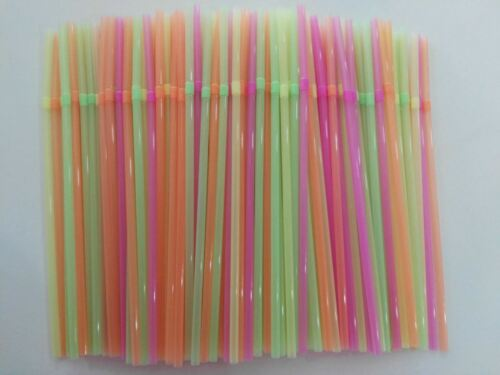 900pc Colourful Straight Straws Disposable Drinking Straw Plastic Straws Party