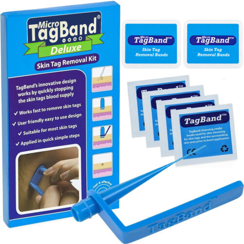 Deluxe Micro TagBand Skin Tag Remover Kit with Extra Bands and Free Retainer Box <br/> Free next day delivery & 60 day money back guarantee