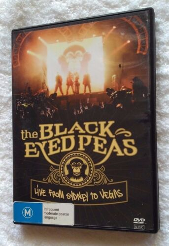 THE BLACK EYED PEAS: LIVE FROM SYDNEY TO VEGAS (DVD) R-ALL, LIKE NEW, FREE POST