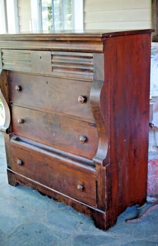 Antique Empire Dresser Chest of Drawers Dovetailed Drawers
