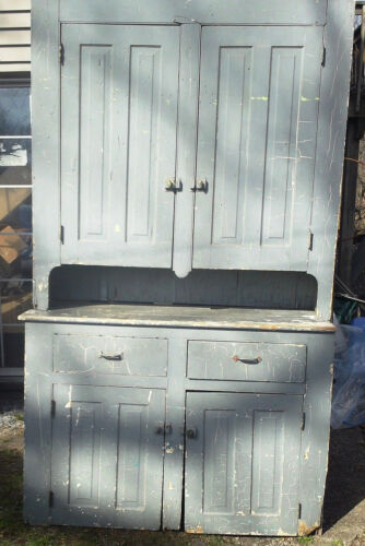 ANTIQUE COUNTRY CUPBOARD (2 PC.)