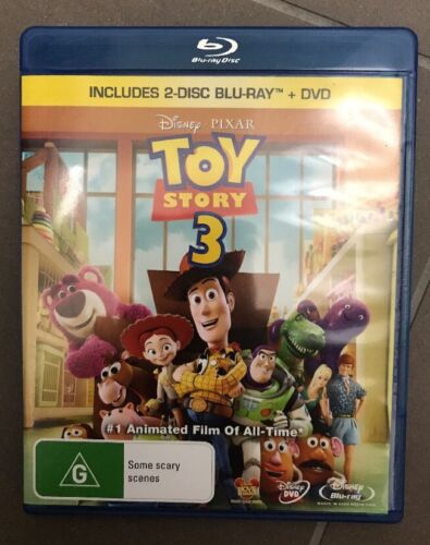 """Toy Story 3 (Blu-ray and DVD, 2010, 2-Disc Set) """"Like New* - 💕Fast  Postage💕"""