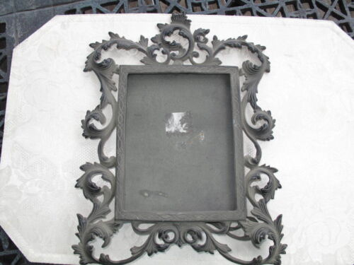 """VICTORIAN ORNATE BRASS PICTURE FRAMES Easel 9""""X12"""" Heavy"""