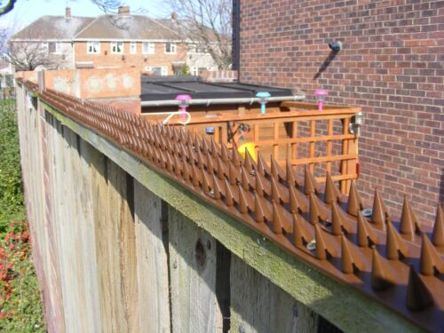 FENCE & WALL SPIKES CAT REPELLENT INTRUDER DETERRENT ANTI CLIMB CAT - 7 COLOURS <br/> MADE IN THE UK / 7 COLOURS / 11 PACK SIZES / VERY SHARP