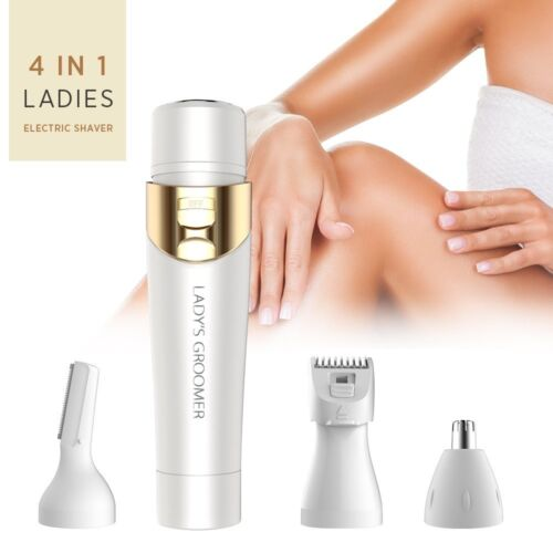 4 in 1 Flawless Women's Painless Hair Removal Electric Hair Shaver -