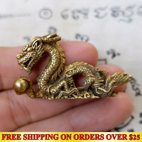 Brass Powerful Magic Erotic Woman Penis Paladkik Thai Amulet Pendant Talismans