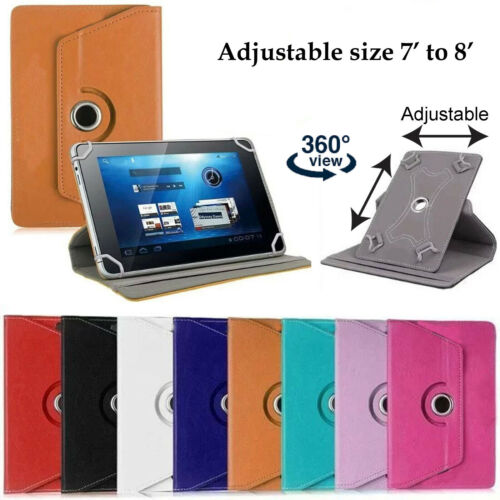 Universal Leather Case Cover Flip Stand Wallet for 7 to 8 inch Tablet PC Pad