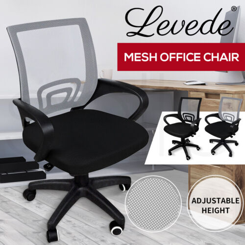 New Design Ergonomic Mesh Computer Office Desk Mid-back Task Chair <br/> Extra 5% OFF with Code PATPAT at checkout. T&Cs apply.