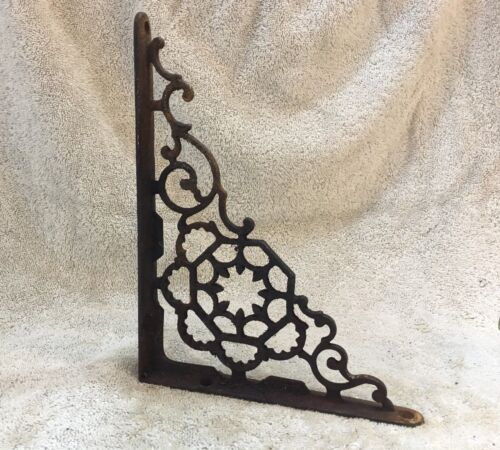 9 Inch Antique Wrought Iron Shelf Bracket