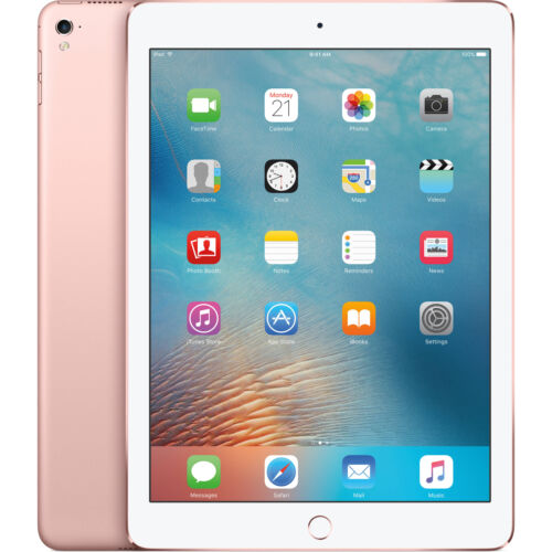 Apple iPad Pro A1674 32GB 9.7 GSM Unlocked Tablet-Rose Gold-Mint