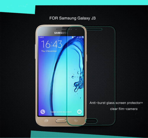 2 x Genuine Tempered Glass 9H Screen Protector For Samsung Galaxy J3 (2016)