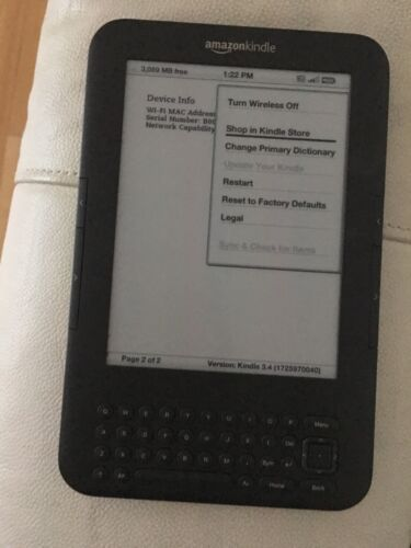 """Kindle E-Reader 6"""" WiFi + 3G with keyboard D000901"""