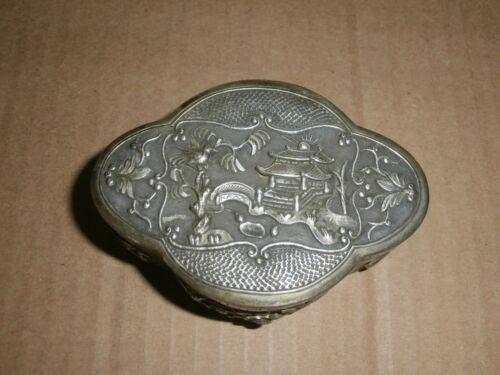 Very Beautiful Chinese Metal or Silver Box