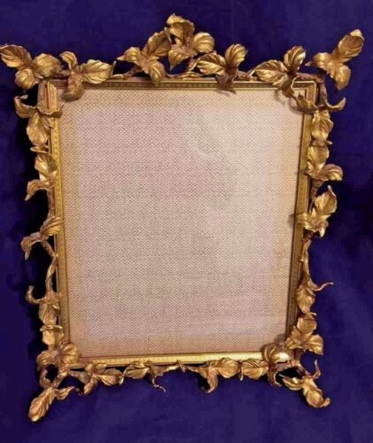 Vintage Brass Large Picture Frame
