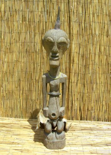 "African Songye Power Figure Nkishi Fetish From The DRC 43"" Tall"
