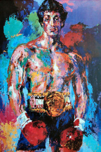 100% Hand Painted Oil Painting on Canvas,LeRoy Neiman rocky balboa