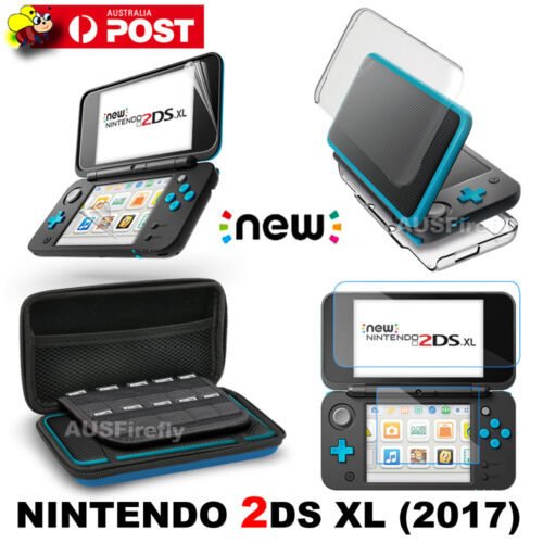 For New Nintendo 2DS XL/LL Hard Carry Bag Case / Crystal Cover /Screen Protector