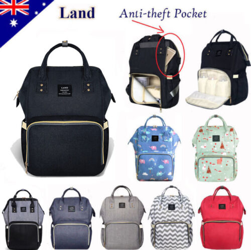 GENUINE LAND Large Multifunctional Baby Diaper Nappy Backpack Mummy Changing Bag <br/> ☆ 2900+ SOLD ☆ LIFETIME WRT ☆ GENUINE LAND BRAND
