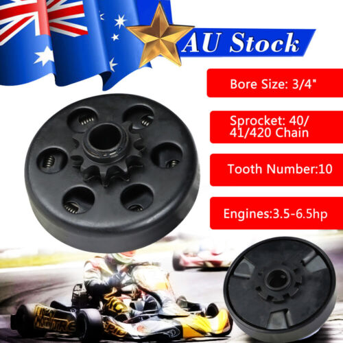 """Centrifugal Dry Clutch 19mm 3//4/"""" 16 Tooth #219 Pitch Go Kart Drift Trike Buggy"""