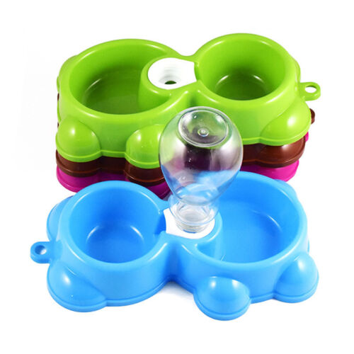 Pet Cat Dog Bowl Automatic Bottle Water Drinking Food Dispenser Feeder Fountain