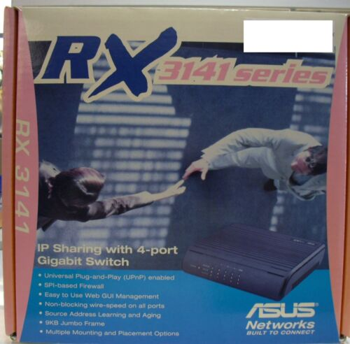Brand New ASUS RX-3141 IP Sharing with 4-Port Managed Gigabit Switch