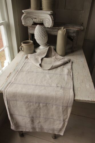 Antique GRAINSACK Indigo blue 1850's OLD hemp sack
