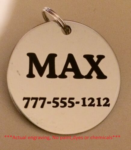 Stainless steel dog pet id tags (lifetime guarantee!)  Personalized w/ free ring <br/> PET TAGS, ID TAGS, KEY CHAINS, DOG TAGS, over 3400 sold