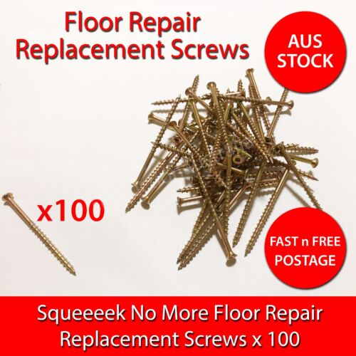 OBerry Squeak Squeeeek No More Floor Replacement Screws 100 pcs - AustraliaStock