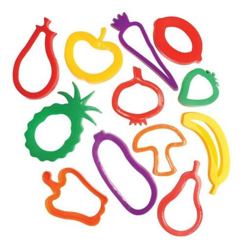 Fruit and Vegetable Shaped Cutters, Set of 12